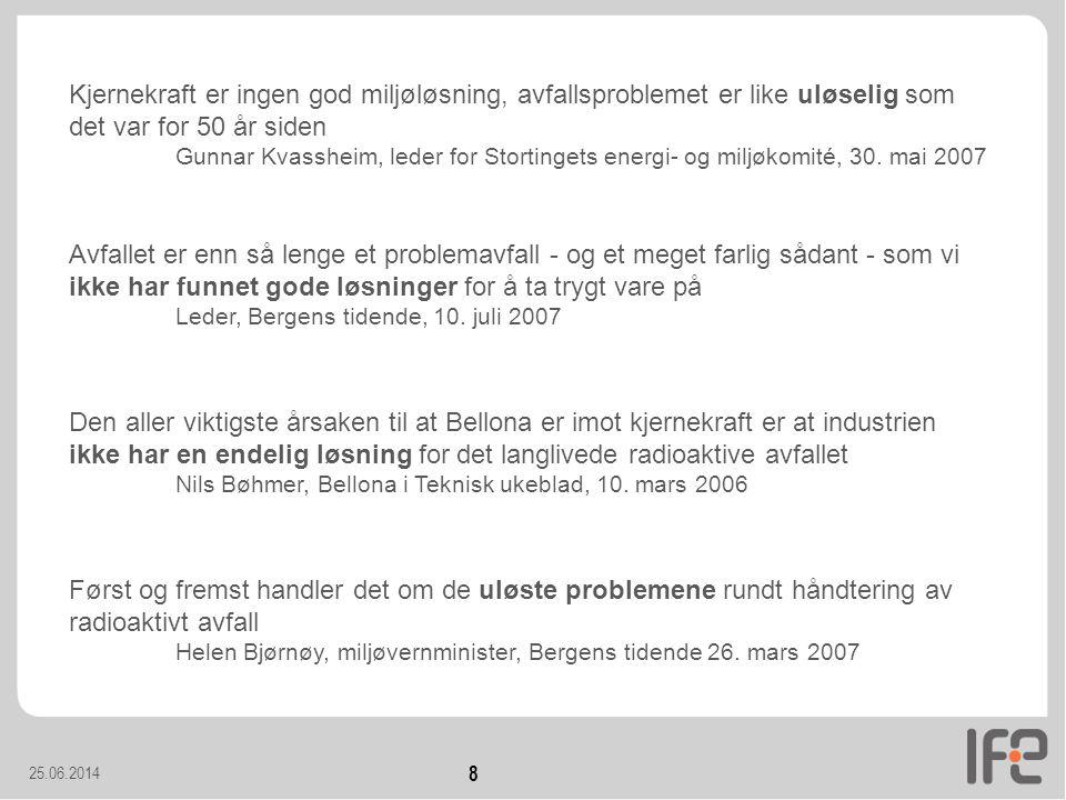 25.06.2014 39 Utvikling av radiologisk giftighet