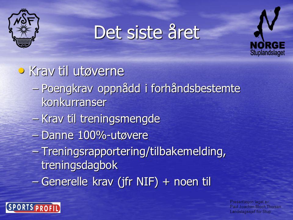 Presentasjon laget av: Paul Joachim Bloch Thorsen Landslagssjef for Stup Takk for oppmerksomheten!