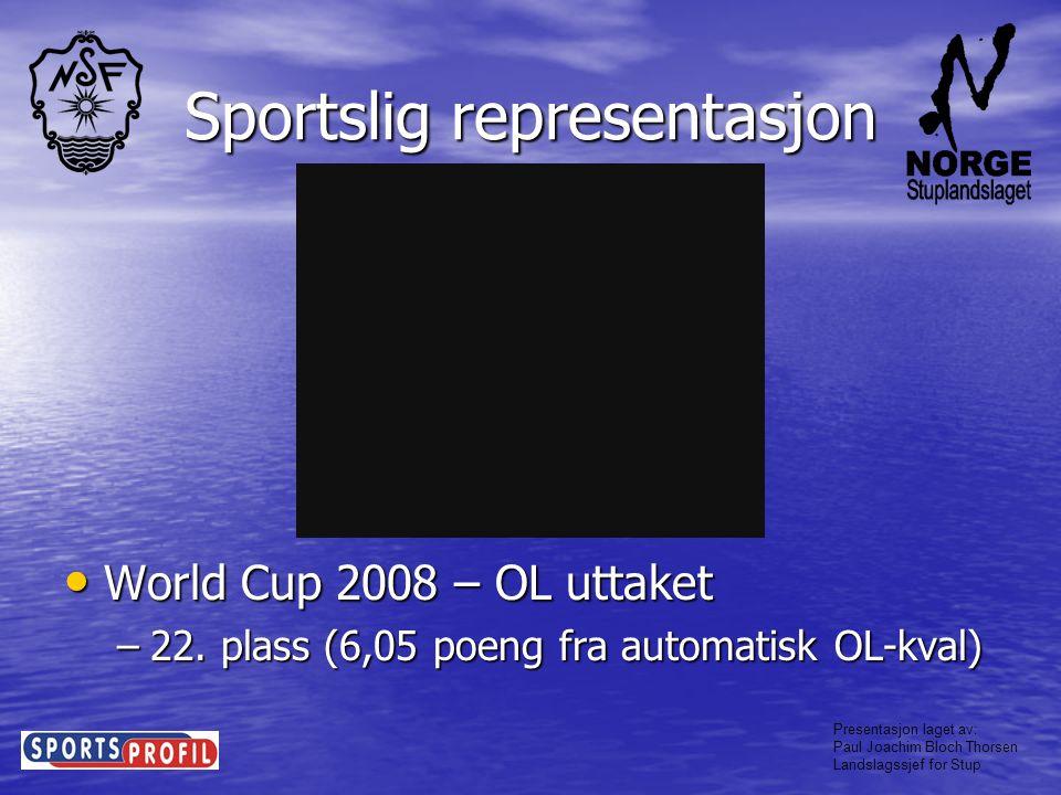Presentasjon laget av: Paul Joachim Bloch Thorsen Landslagssjef for Stup Sportslig representasjon • EM 2008 –5.
