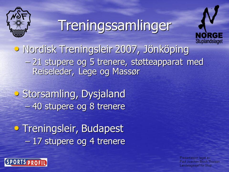 Presentasjon laget av: Paul Joachim Bloch Thorsen Landslagssjef for Stup Trenerutvikling • Trenerseminar, Kristiansand Tema: –Utvikling av nye stupere, hvor går vi videre, hva har vi gjort siden sist?.