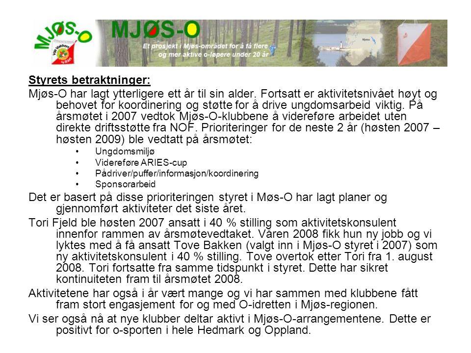 Styrets betraktninger: Mjøs-O har lagt ytterligere ett år til sin alder. Fortsatt er aktivitetsnivået høyt og behovet for koordinering og støtte for å