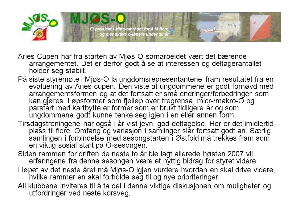 Aries-Cupen har fra starten av Mjøs-O-samarbeidet vært det bærende arrangementet. Det er derfor godt å se at interessen og deltagerantallet holder seg