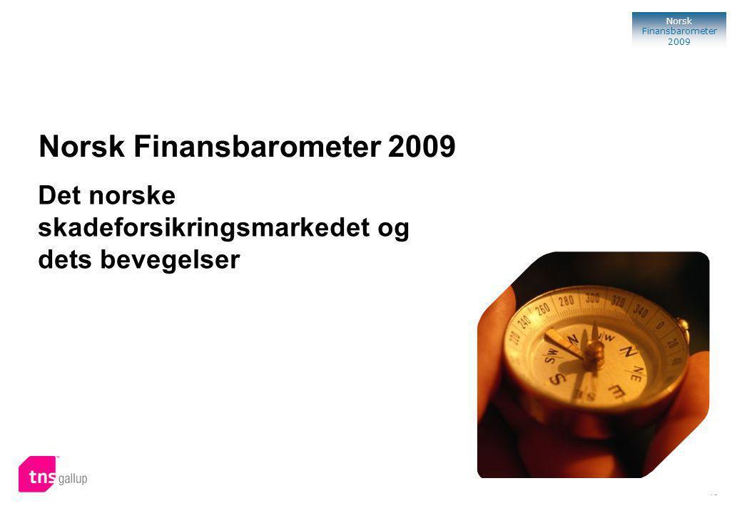 45 Norsk Finansbarometer 2009 Norsk Finansbarometer 2009 TNS Gallup Oslo, 2009 Det norske skadeforsikringsmarkedet og dets bevegelser