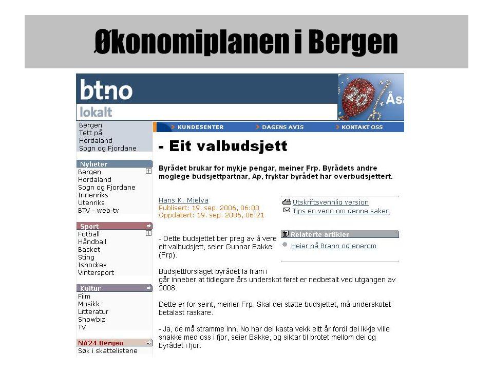 Økonomiplanen i Bergen