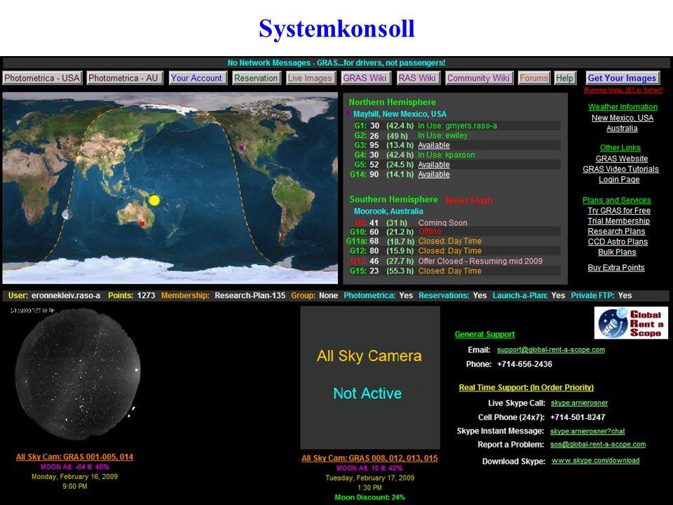 Infoside for teleskop •Sjekk at teleskopet ikke er reservert for den tiden du vil bruke det.