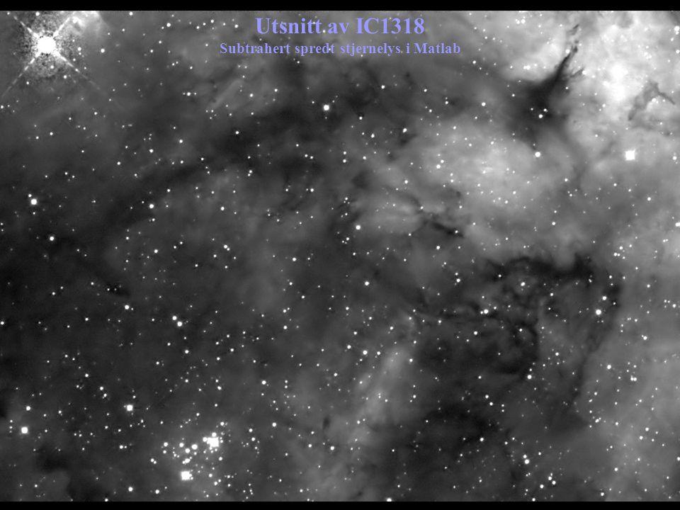 Utsnitt av IC1318 Subtrahert spredt stjernelys i Matlab