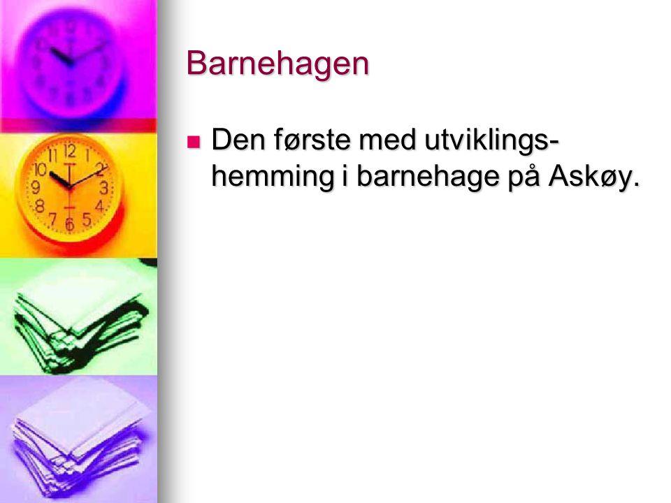 Barnehagen  Den første med utviklings- hemming i barnehage på Askøy.