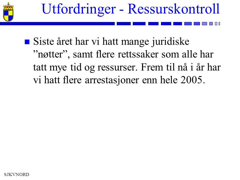SJKVNORD Utfordringer - Ressurskontroll n Okt 2005: Elektron i VS »Rettssak i Murmansk 19 september 2006 »5 Tjenestemenn fra Kystvakten innkalt som vitner