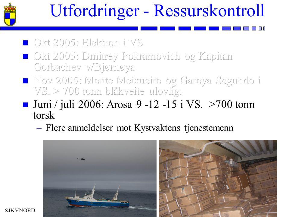 SJKVNORD Utfordringer - Ressurskontroll