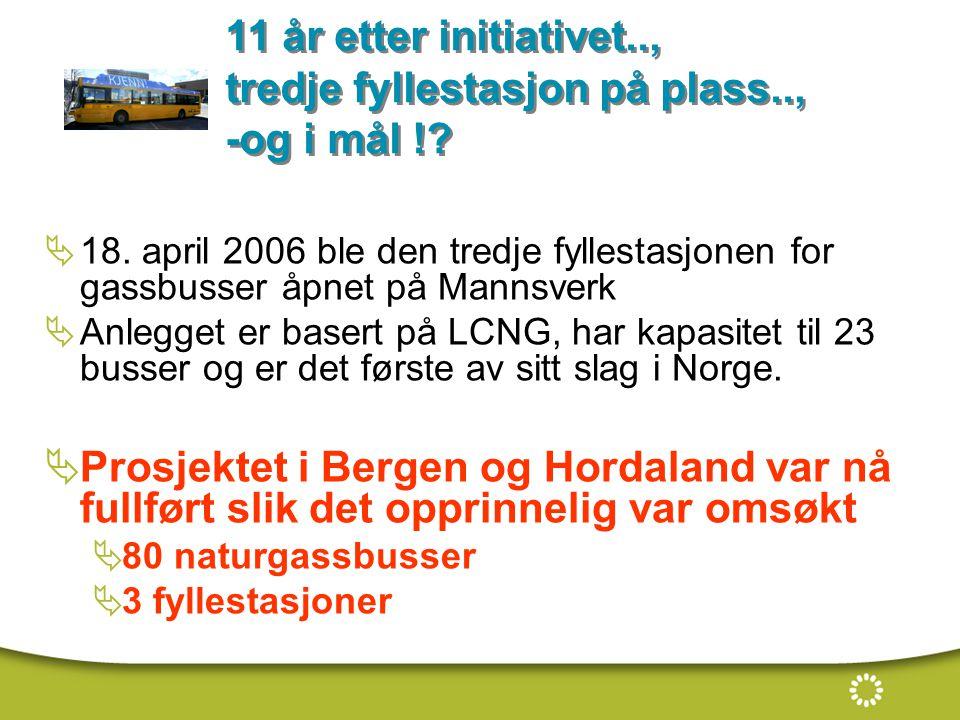  18. april 2006 ble den tredje fyllestasjonen for gassbusser åpnet på Mannsverk  Anlegget er basert på LCNG, har kapasitet til 23 busser og er det f
