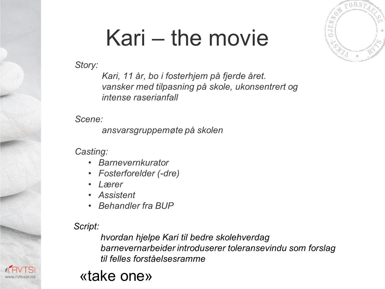 Kari – the movie Story: Kari, 11 år, bo i fosterhjem på fjerde året.