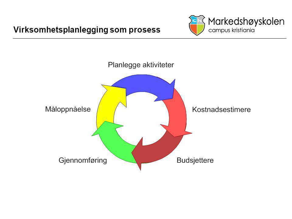 Virksomhetsplanlegging som prosess