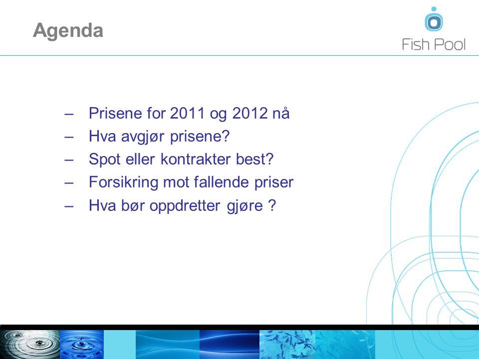 Resten av 2011 handles nå til 38,50 NOK/kg Hva bør oppdretter gjøre? MarkedssynHva er lurt ?