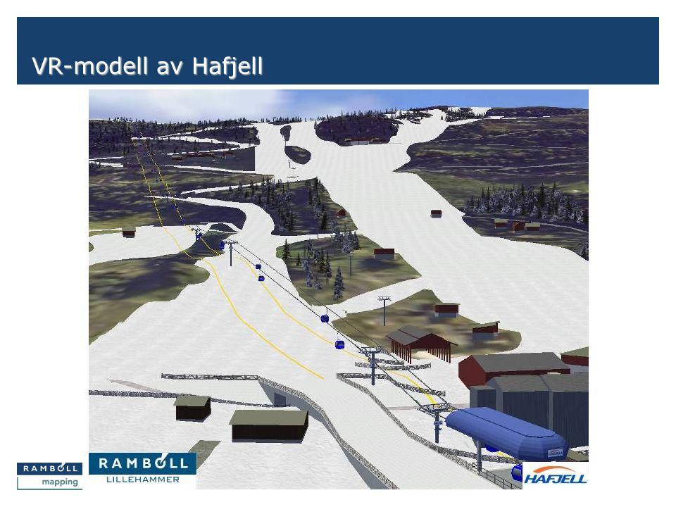Side VR-modell av Hafjell