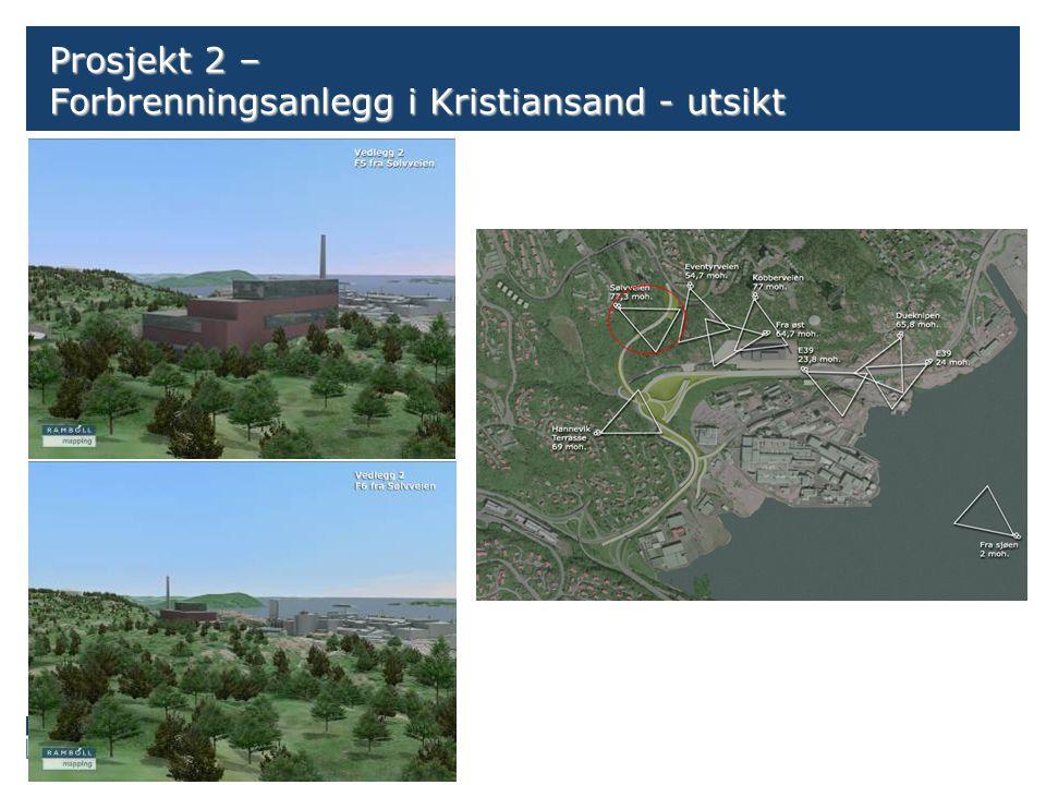 Side Prosjekt 2 – Forbrenningsanlegg i Kristiansand - utsikt