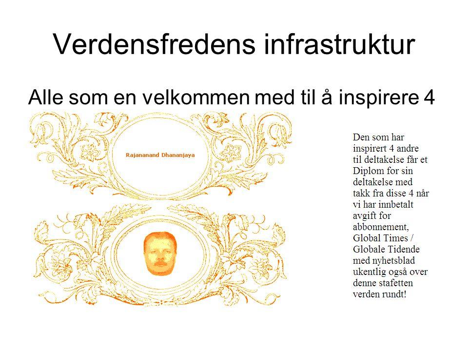 Verdensfredens infrastruktur Alle som en velkommen med til å inspirere 4