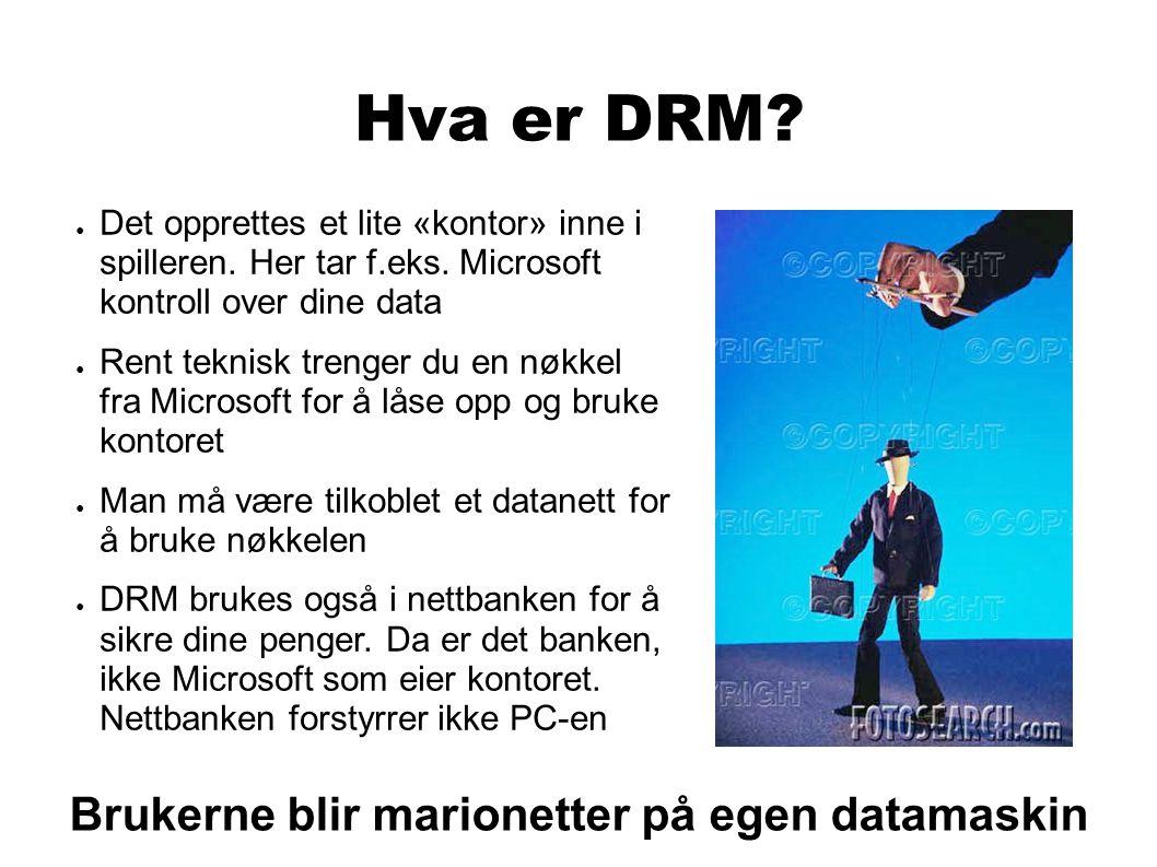 Hva er DRM.