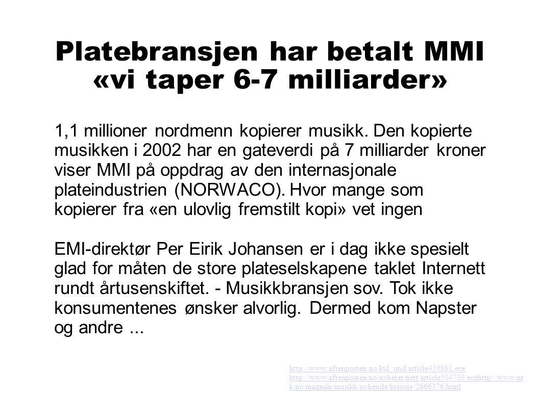 Står ikke til troende ● Dagens lov virker.Napster-løsninger er ulovlig i Norge.