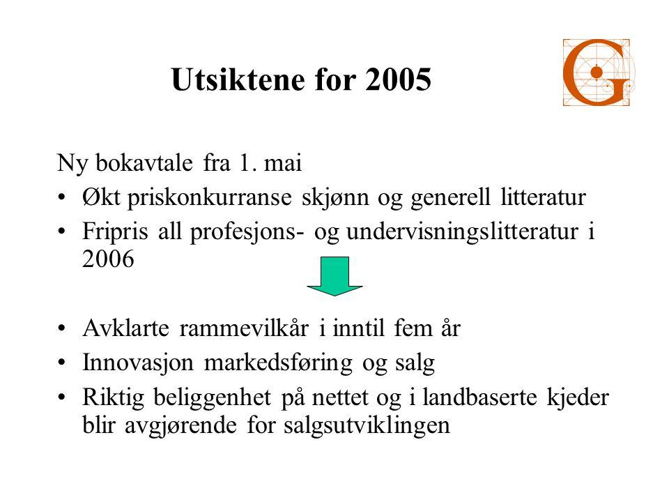 Utsiktene for 2005 Ny bokavtale fra 1.