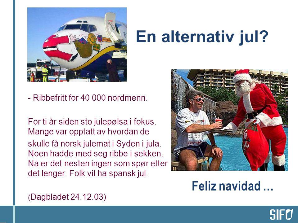 En alternativ jul.- Ribbefritt for 40 000 nordmenn.