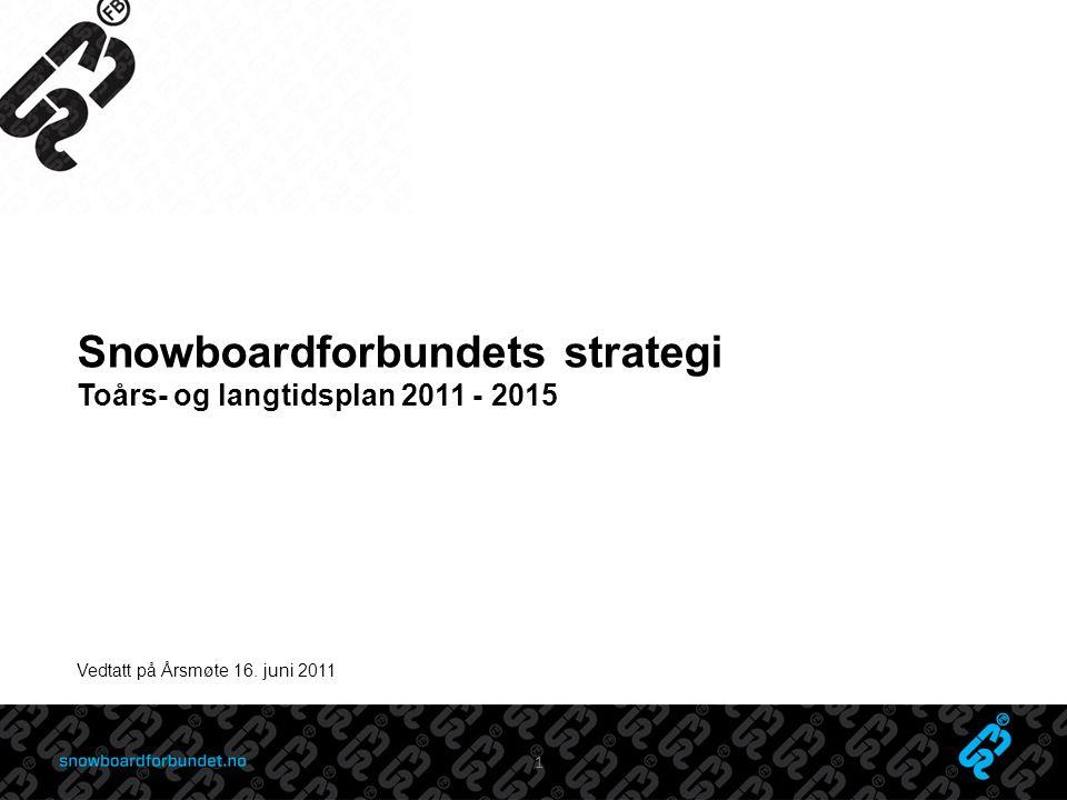 Snowboardforbundets strategi Toårs- og langtidsplan 2011 - 2015 Vedtatt på Årsmøte 16. juni 2011 1