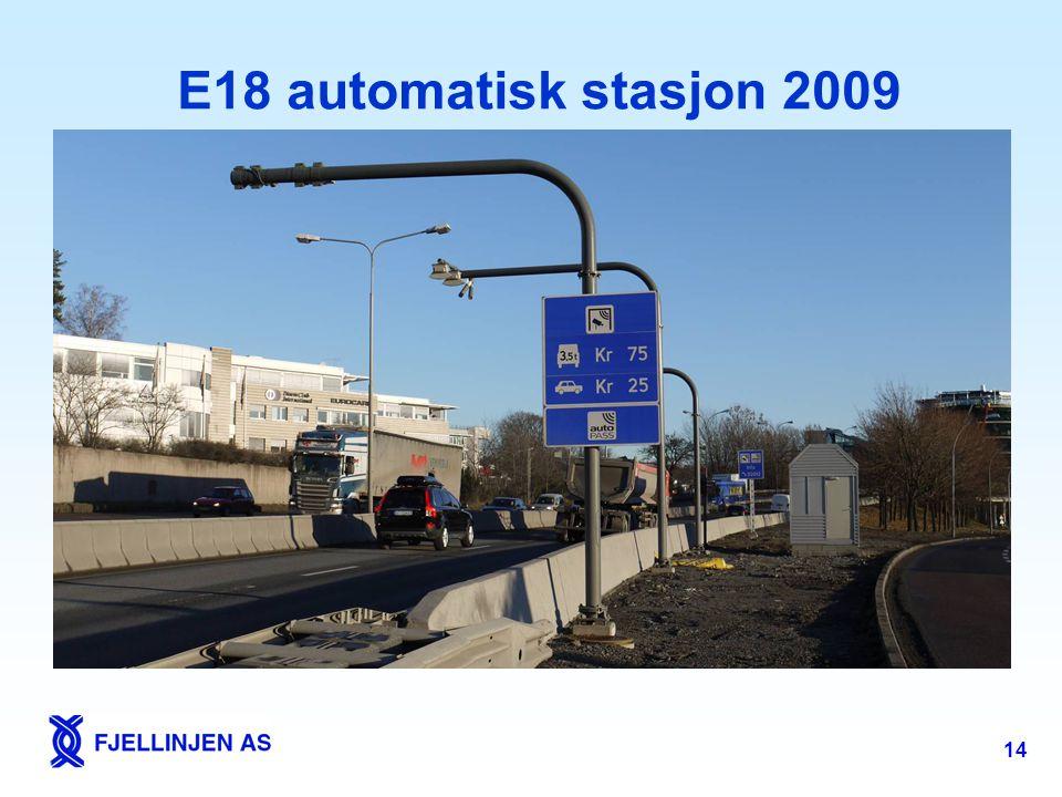 14 E18 automatisk stasjon 2009