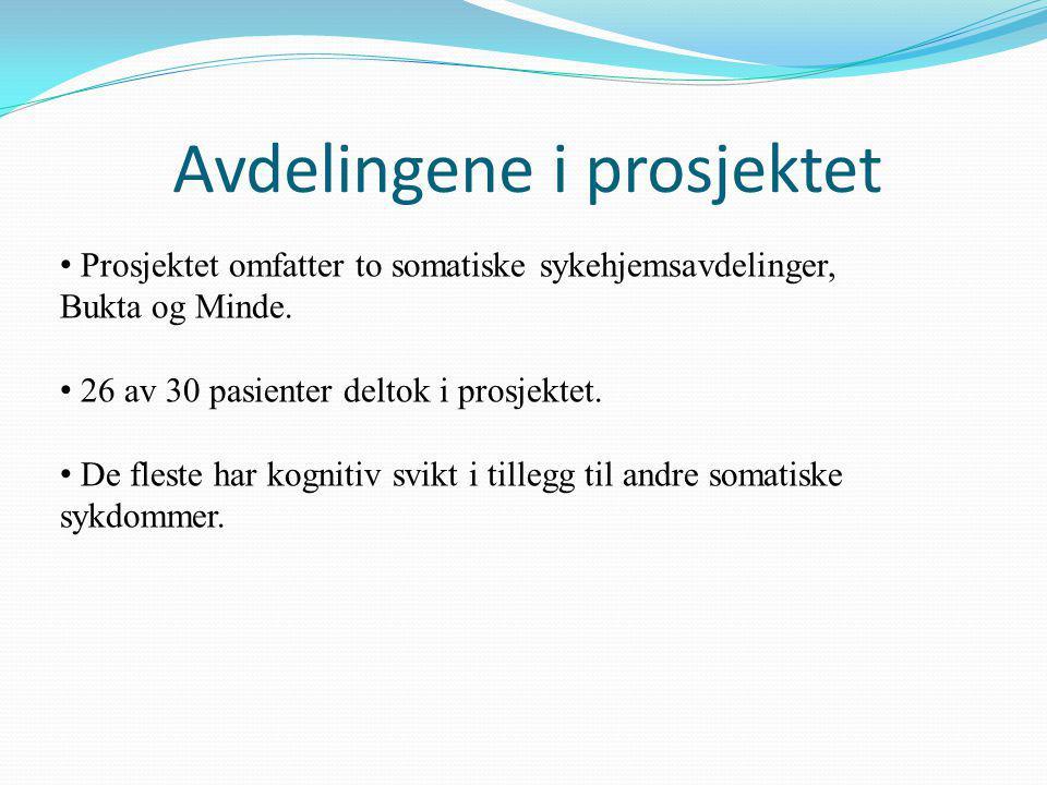 • Prosjektet omfatter to somatiske sykehjemsavdelinger, Bukta og Minde.