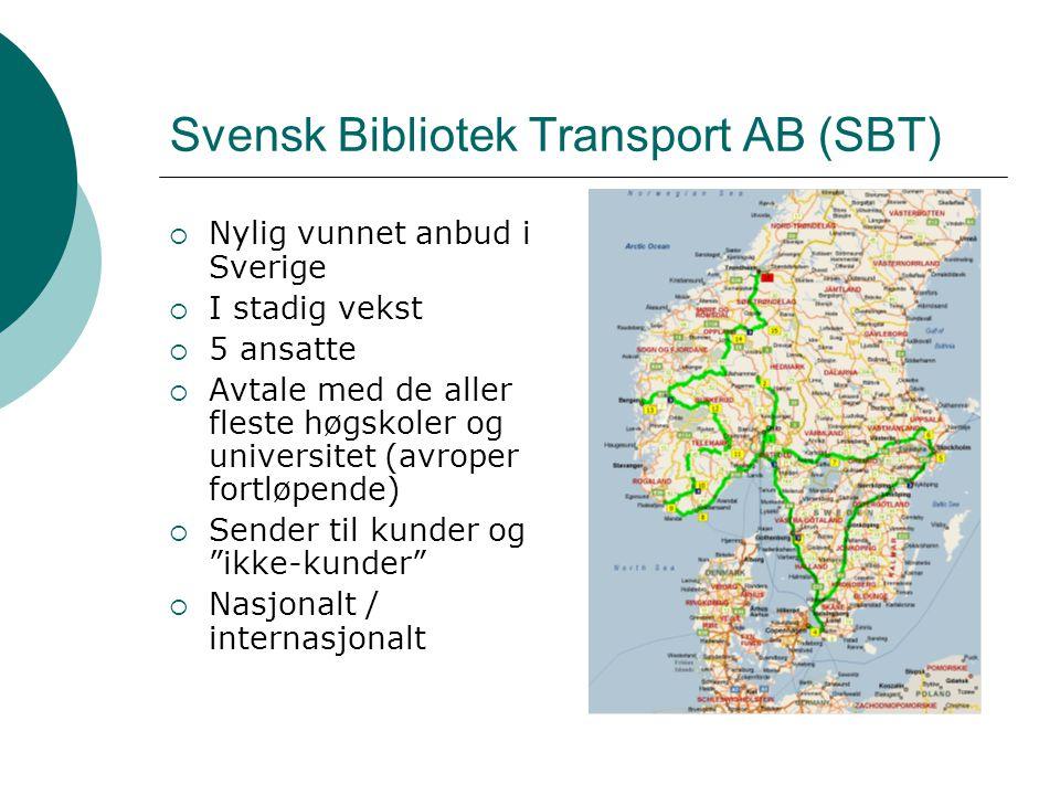 Kjøreruter  Dekker av egne biler  Knutepunkt i Oslo, Stockholm, Göteborg og Malmö / København