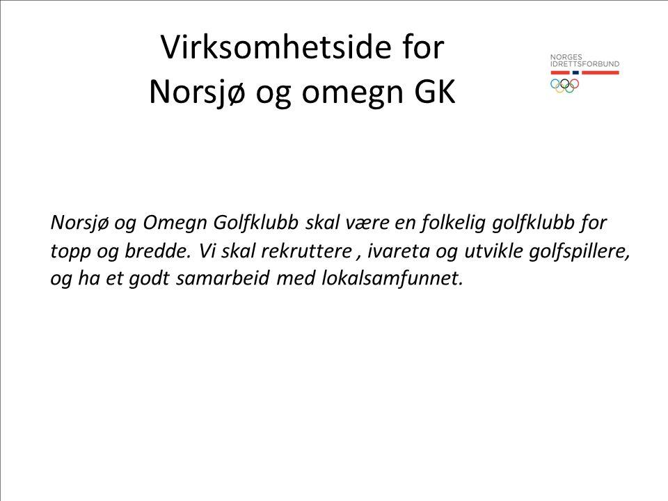 Virksomhetside for Norsjø og omegn GK Norsjø og Omegn Golfklubb skal være en folkelig golfklubb for topp og bredde.