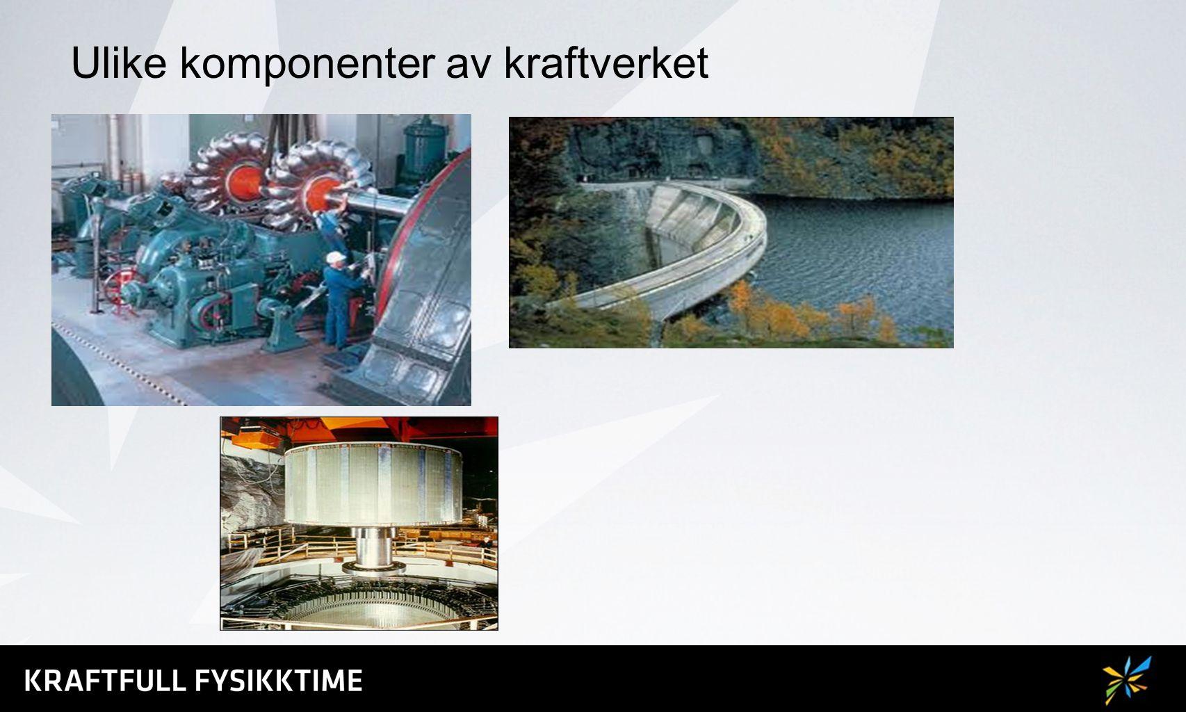 Ulike komponenter av kraftverket