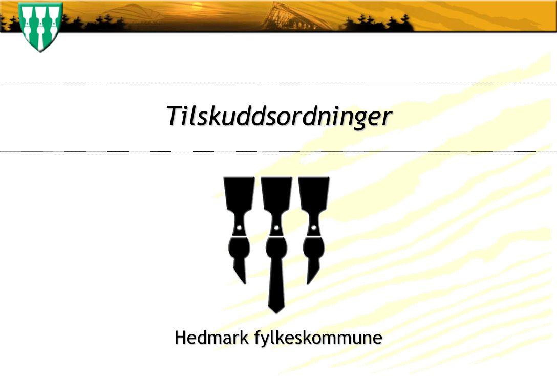 Tilskuddsordninger Hedmark fylkeskommune