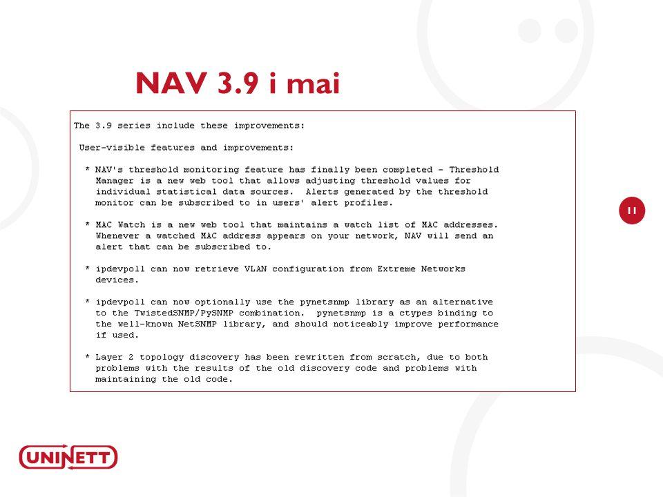 11 NAV 3.9 i mai
