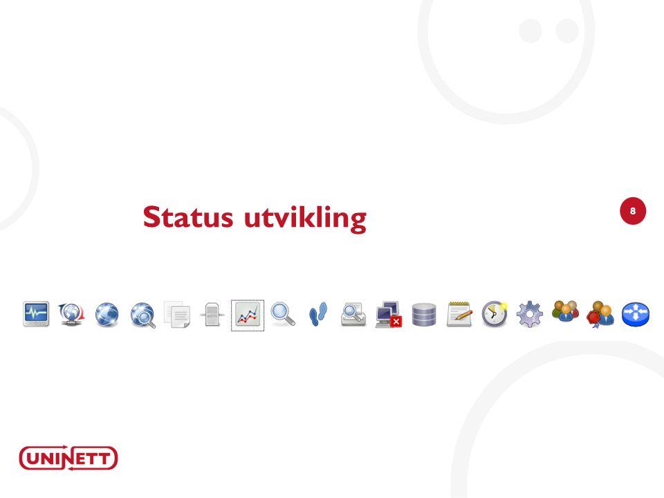 8 Status utvikling