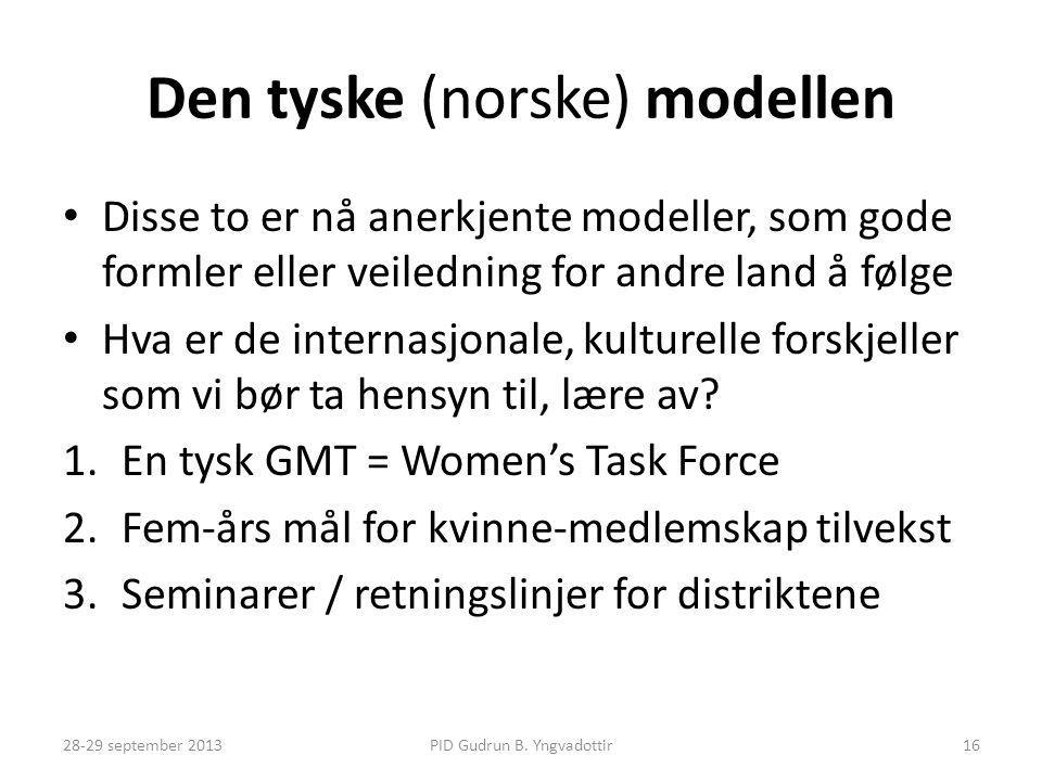 Den tyske (norske) modellen • Disse to er nå anerkjente modeller, som gode formler eller veiledning for andre land å følge • Hva er de internasjonale,