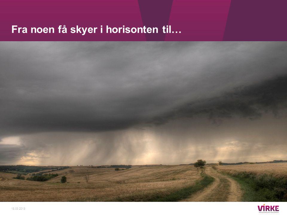 Fra noen få skyer i horisonten til… 18.03.2013