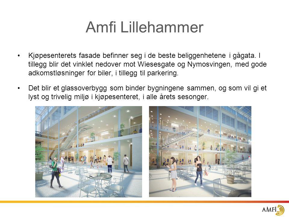 •Kjøpesenterets fasade befinner seg i de beste beliggenhetene i gågata. I tillegg blir det vinklet nedover mot Wiesesgate og Nymosvingen, med gode adk