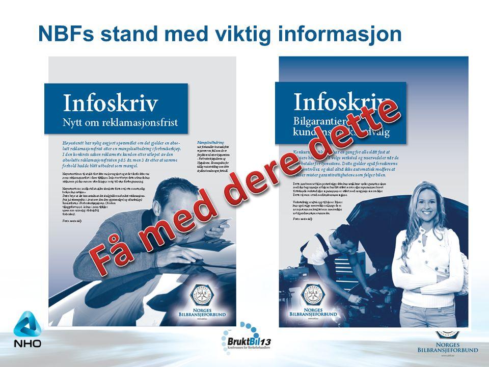 NBFs stand med viktig informasjon