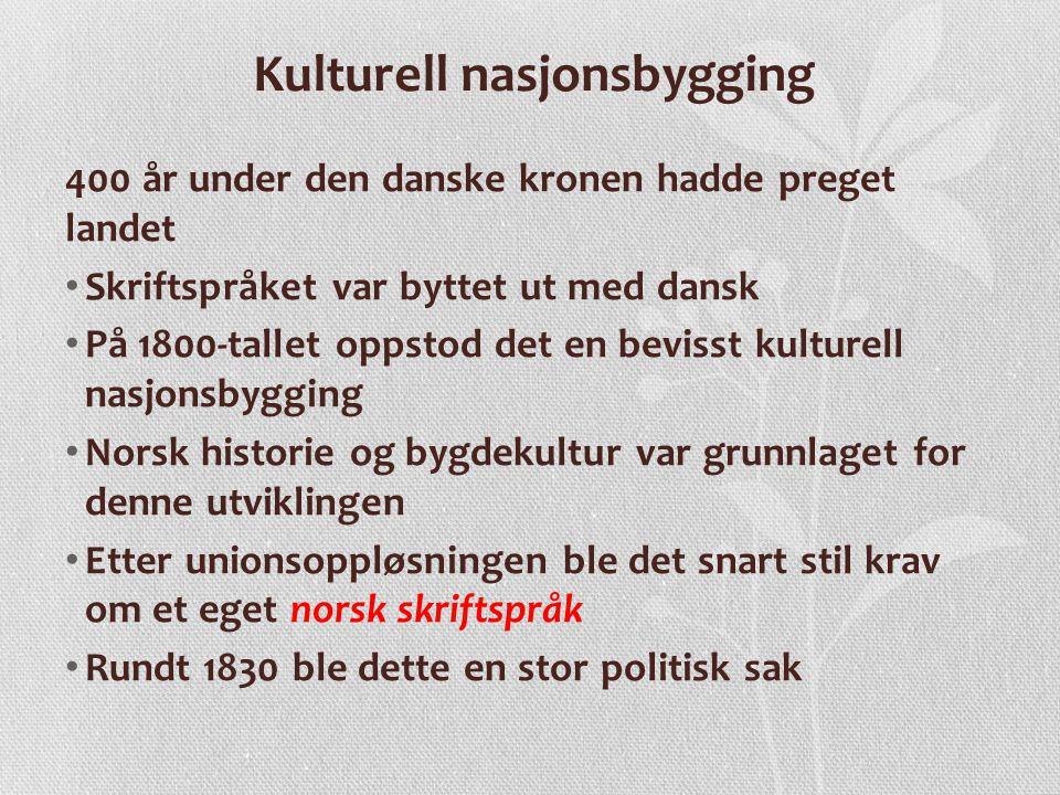 Språkkampen • Noen ville beholde det danske språket, blant annet Johan S.