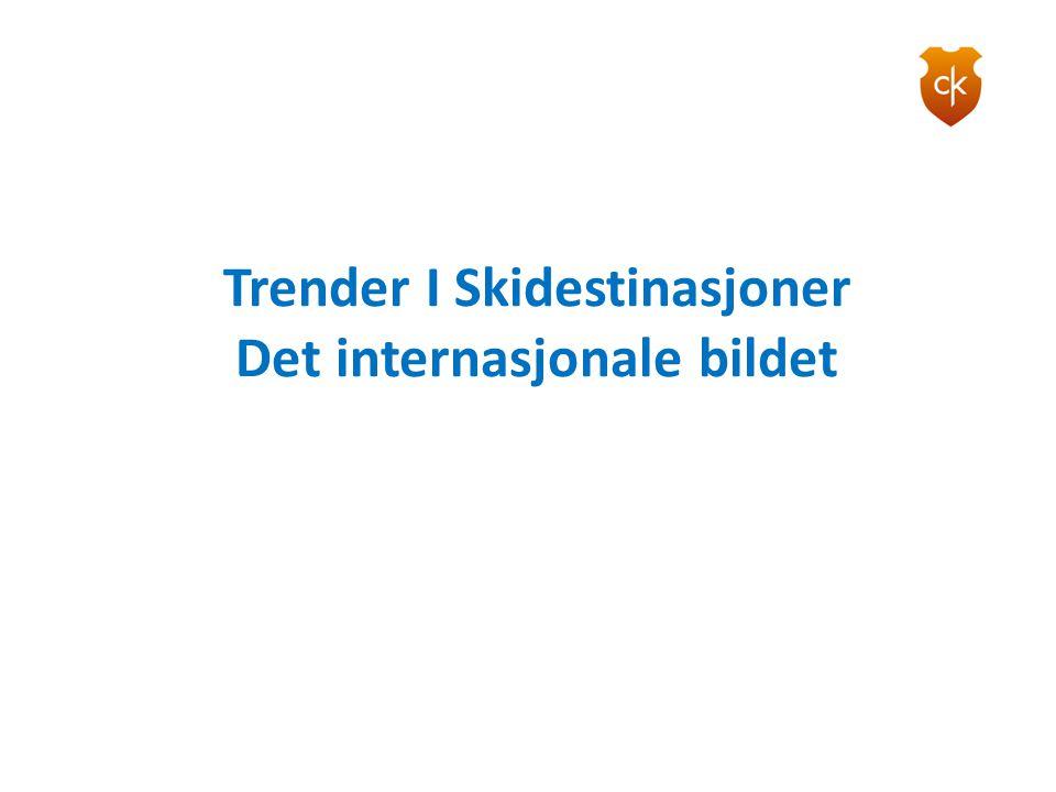 Trender I Skidestinasjoner Det internasjonale bildet