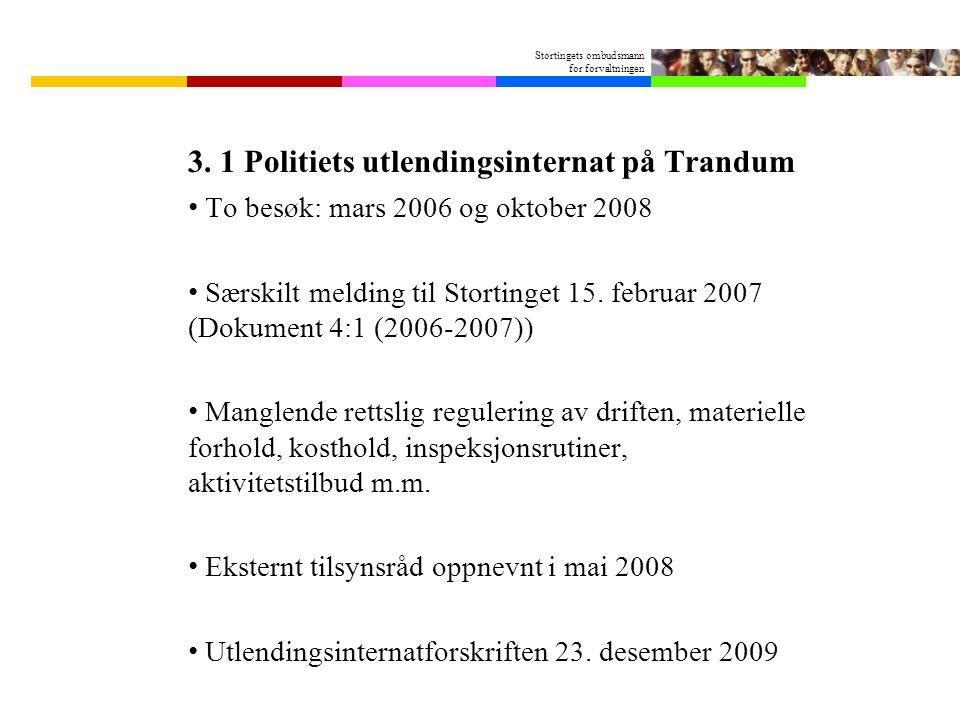 Stortingets ombudsmann for forvaltningen 3.