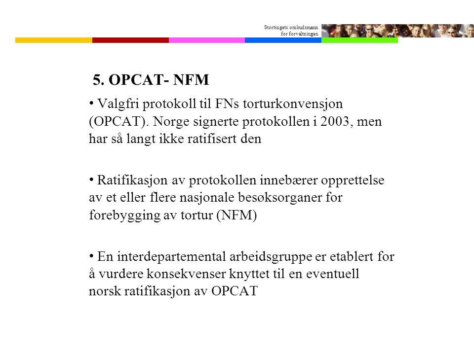 Stortingets ombudsmann for forvaltningen 5.