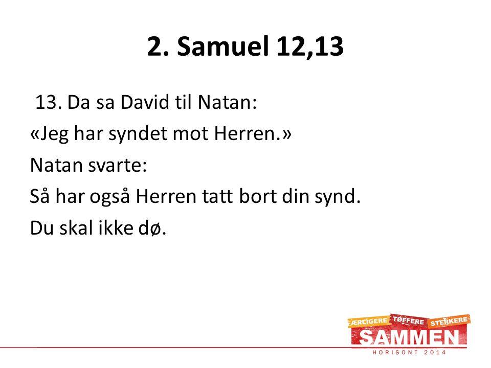 2. Samuel 12,13 13.