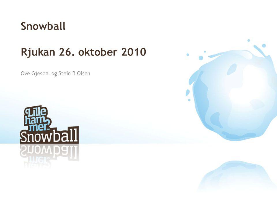 Snowball Rjukan 26. oktober 2010 Ove Gjesdal og Stein B Olsen