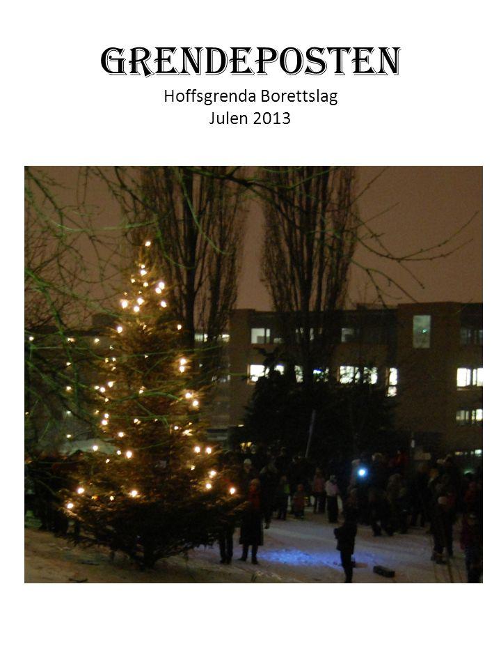 Også i år kommer Grendeposten ut før Jul.