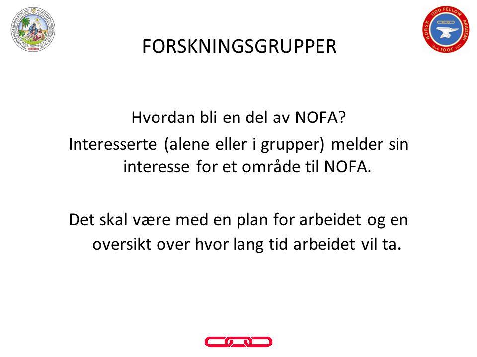 Hvordan bli en del av NOFA? Interesserte (alene eller i grupper) melder sin interesse for et område til NOFA. Det skal være med en plan for arbeidet o