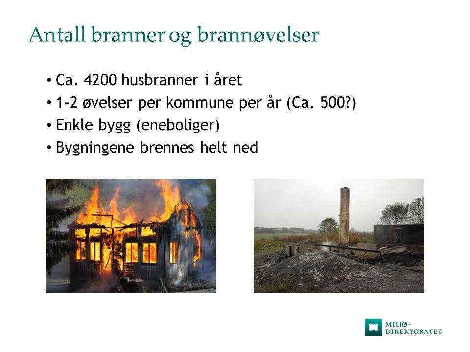 Realistiske øvelser Minimere utslipp  DSB – myndighet for brannvesenets operative evne.