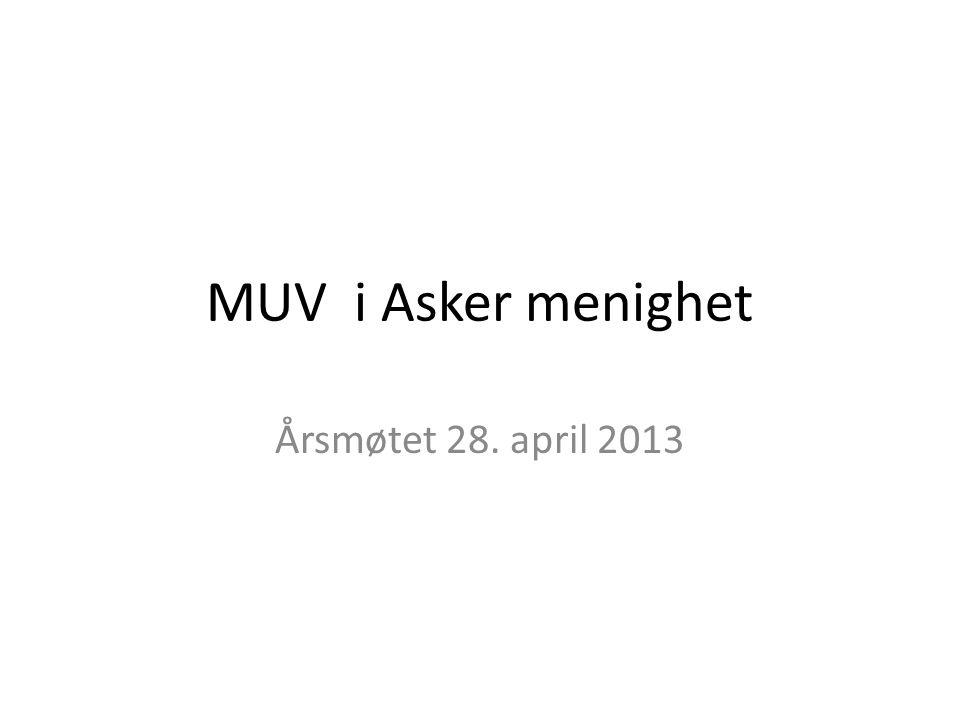 MUV i Asker menighet Årsmøtet 28. april 2013