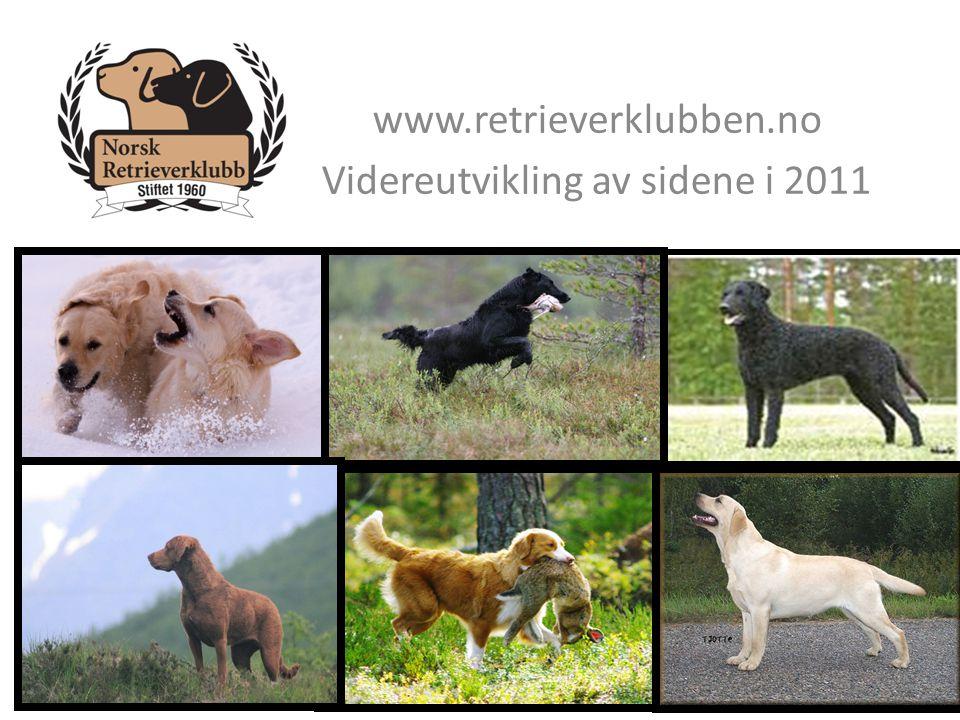 www.retrieverklubben.no Videreutvikling av sidene i 2011