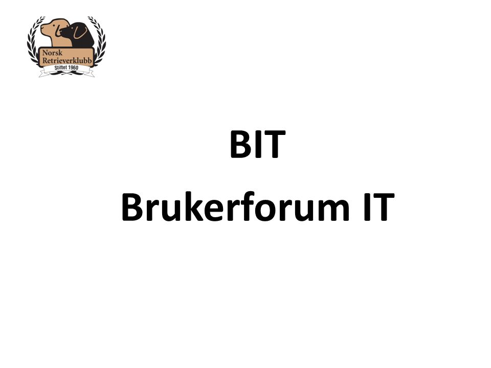 BIT Brukerforum IT