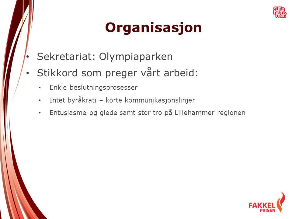 Organisasjon • Sekretariat: Olympiaparken • Stikkord som preger vårt arbeid: • Enkle beslutningsprosesser • Intet byråkrati – korte kommunikasjonslinj